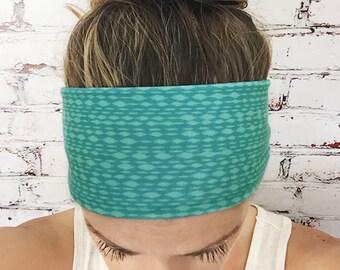 Mottled - Turquoise - Eco Friendly Yoga Headband