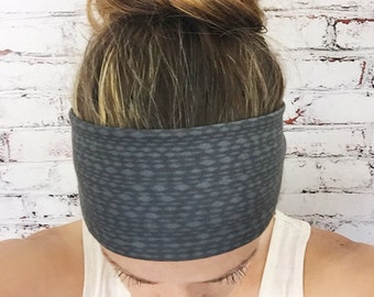 Mottled - Soft Black - Eco Friendly Yoga Headband