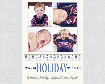 Warm Holiday Wishes - Printable File