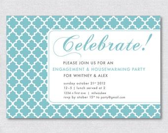 """4""""x6"""" Classic Party Invitation - Digital File"""