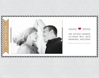 Hand Sewn Photo Wedding Save the Date