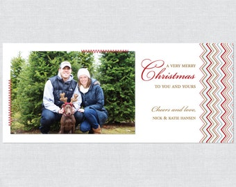 Hand Sewn Photo Holiday Card