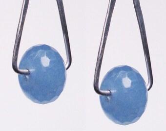 Blue Quartz dangle earring