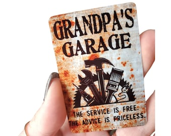 Grandpa's Garage Magnet, Toolbox magnet, Fathers day gift, small Gift for Grandpa, Papa Garage, Grandpa's tool box magnet, gift for him