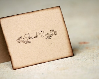 thank you note set of 5 rustic thank you notes vintage thank etsy