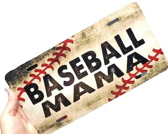 Baseball Mama License Plate, Front baseball mom vanity plate, Custom License Plate, baseball car plate, Little League Baseball vanity plate