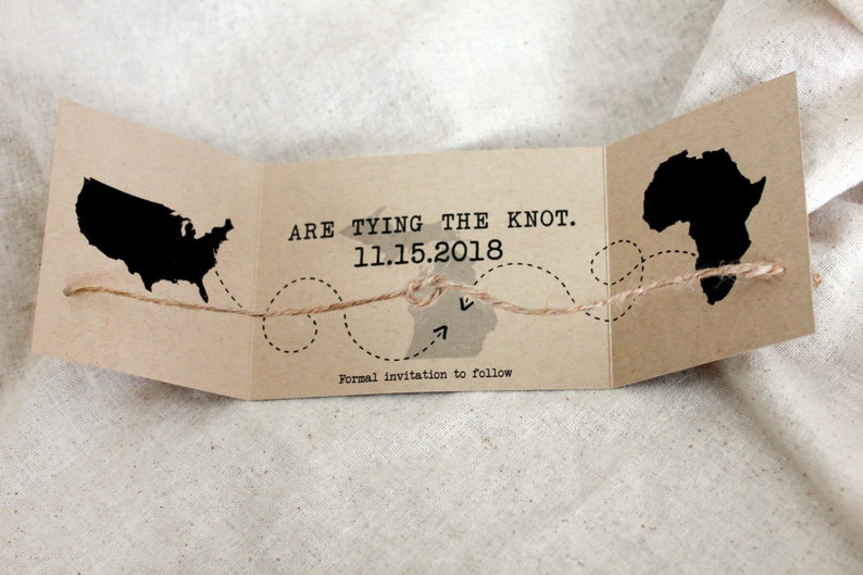 Tying the Knot Save the Date destination wedding set of 50 Eloping knot Invitation knot Wedding Announcement Tying Knot Announcement