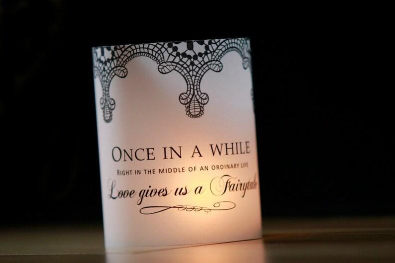 Lace Wedding Table Decor Fairytale Decor Luminary Wedding image 0