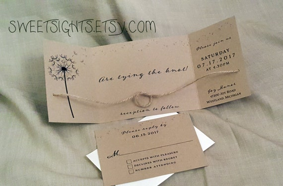 tying the knot invitation 25 tying the knot cards rustic etsy