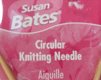 Susan Bates Circular Knitting Needle~Silverado 4mm-40.5cm/6 US-16""