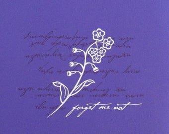 Creative Memories 7 x 7 FORGET-ME-NOT Triumph Purple Scrapbook Album w/ pages