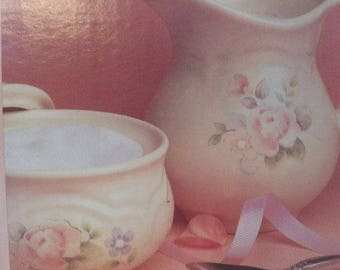 Pfaltzgraff~Perennials~Tea Rose Floral~Sugar & Creamer Set~New in Box