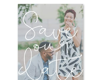 Save the Date Cards, Save the Dates, Photo, Wedding 5x7 Cards