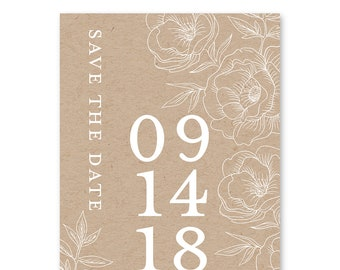 Save the Date Cards, Save the Dates, Rustic, Wedding 5x7 Cards