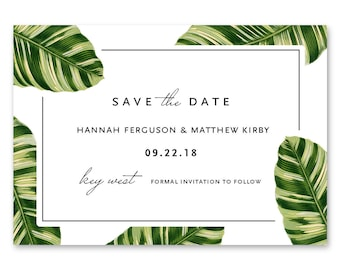 Save the Date Cards, Save the Dates, Tropical 5x7 Cards