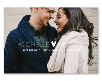 Save the Date Cards, Save the Dates, Wedding, Photo 5x7 Cards