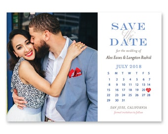 Save the Date Cards, Save the Dates, Calendar, Wedding 5x7 Cards