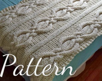 Twisted Cable Knit Blanket PATTERN