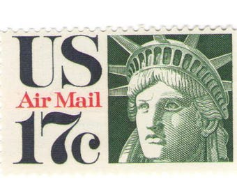 Unused 1971 Statue of Liberty - Vintage Airmail Postage Stamps Number C80