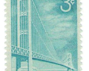 Unused 1958 Mackinac Bridge - Vintage Postage Stamps Number 1109