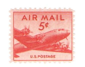 Unused 1947 DC-4 Skymaster Plane - Vintage Airmail Postage Stamps Number C33