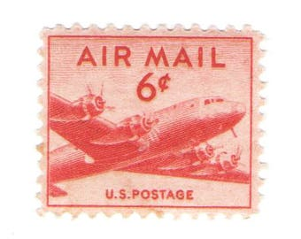 Unused 1949 DC-4 Skymaster Plane - Vintage Airmail Postage Stamps Number C39