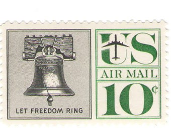 Unused 1960 Liberty Bell - Let Freedom Ring - Vintage Airmail Postage Stamps Number C57