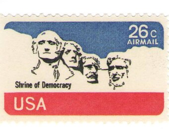 Unused 1974 Mount Rushmore - Vintage Airmail Postage Stamps Number C88