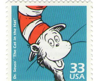 Unused 1999 Cat in the Hat - Dr. Seuss - Postage Stamps Number 3187h