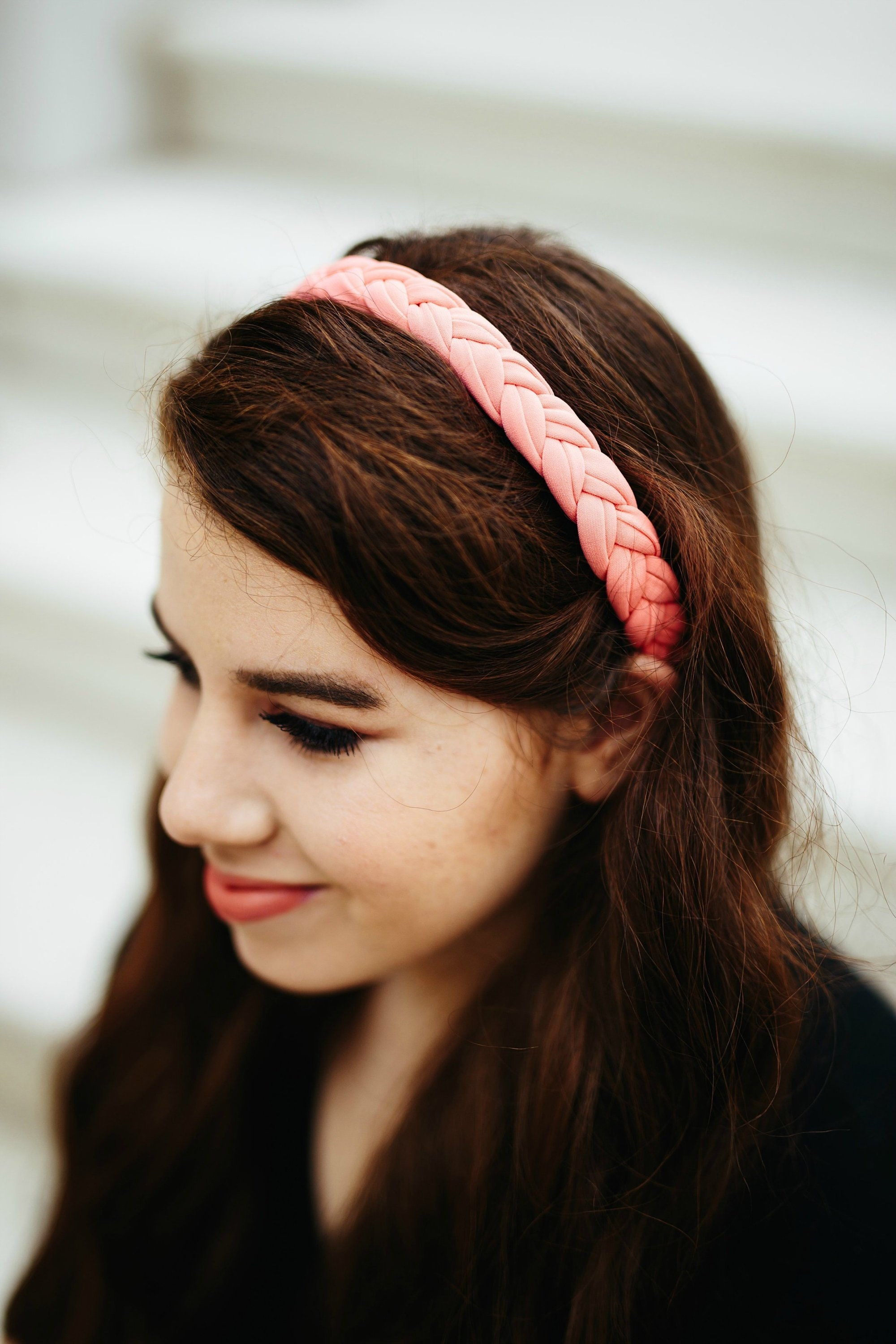 Chunky and Thick Boho Style Braided Headband for Women. A  6d73371111aa