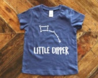 7fc7f443 Little Dipper ONLY TODDLER T-Shirt / Little Dipper Onesie / Matching Family  Shirts / Baby Shower Gift / New Mom Gift