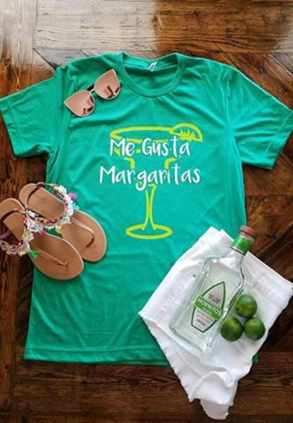 ce7f19079750 Me Gusta Margaritas Shirt   Funny Beach Shirt   Margarita
