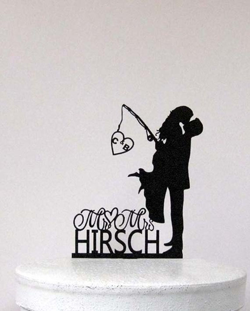 Personalized Wedding Cake Topper  Wedding Bride and Groom image 0