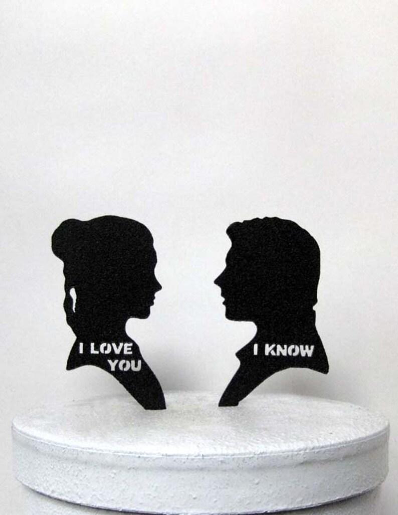 Wedding Cake Topper  StarWars Leia & Hans Solo image 0