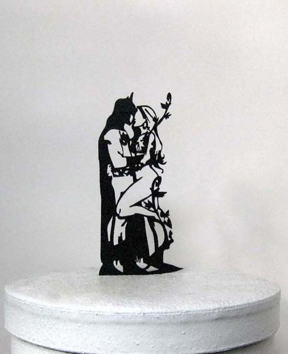 batman and bride wedding cake topper uk wedding cake topper batman and poison silhouette cake 11114