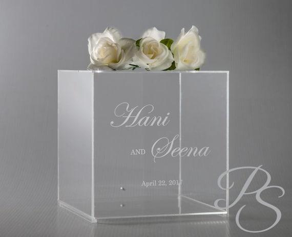 Personalized Wedding Card Box with lock Money Box unique | Etsy