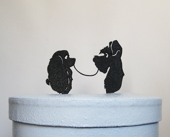 Wedding Cake Topper Lady And The Tramp Silhouette Wedding Etsy