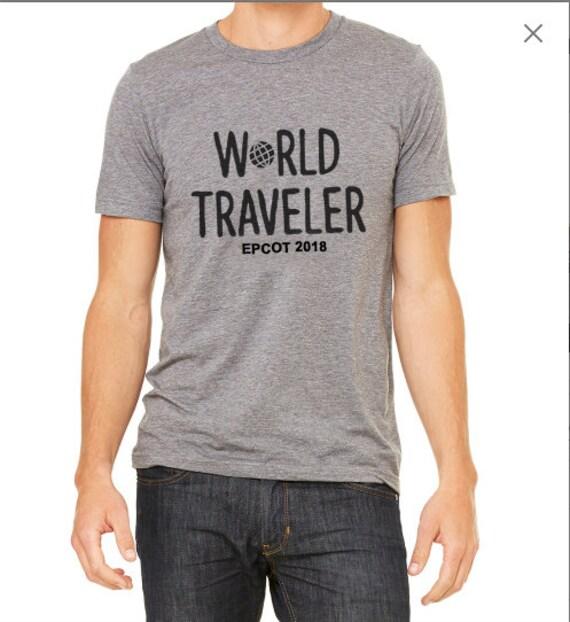 Epcot Shirt World Traveler Drinking Around The World Etsy