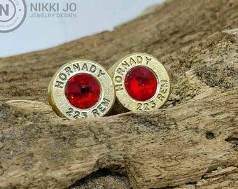 223 Recycled Bullet Casing Earrings