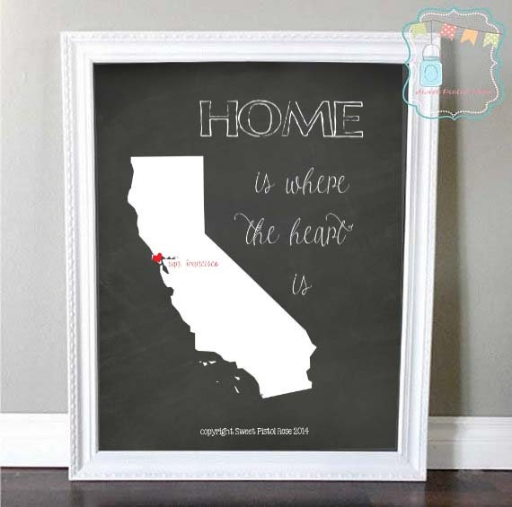 Home Is Where The Heart Is Printable Wall Art Personalized