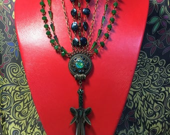 Medieval enchanting and mystical bold necklace.