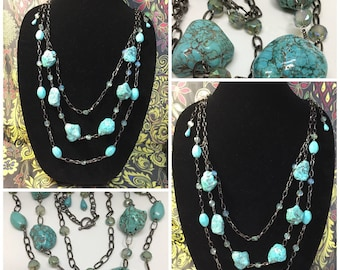 Gorgeous Turquoise Statement necklace.