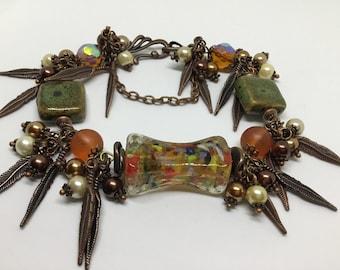 Copper Charm Bracelet.