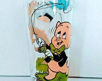 1976 Pepsi Porky Pig /& Taz Fishing Collectible Glass 1976 Pepsi Collector Series