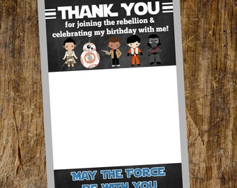 Thank You card | Flat Thank You Card | Star Wars Thank you | Instant Download