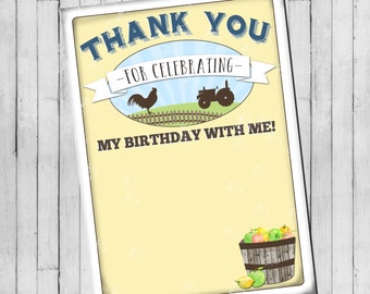 Farmers Market Thank You Card | Flat Thank You Card | Digital File