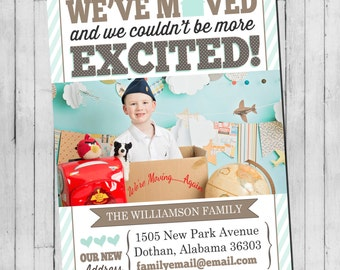 Moving Announcement | New Address Announcement | First Home Announcement | Digital Printable Announcement