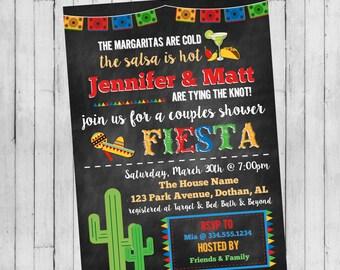 Fiesta Couple Shower Invitation   Fiesta Party Invitation   Mexican Party Invitation   Cinco De Mayo Invitation   Digital Invitation