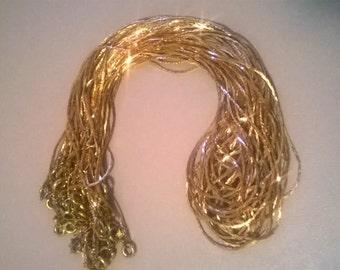 12 Pc Copper Snake Bone Chain/Stringing Chain Necklace