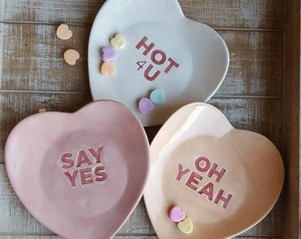 Say Yes ceramic candy dish